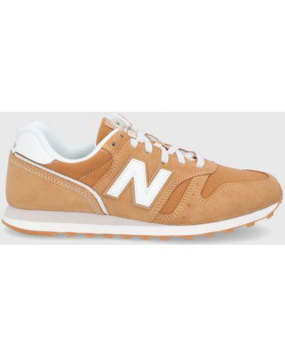 Sneakersy skorzane na obcasie sznurowane New Balance
