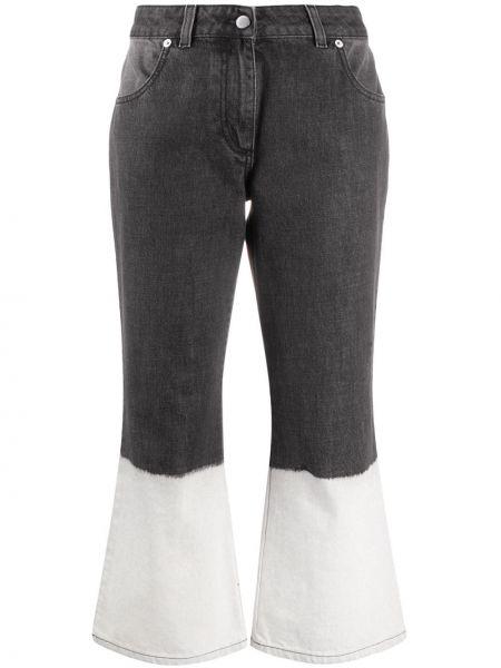 Расклешенные серые джинсы с нашивками Jw Anderson