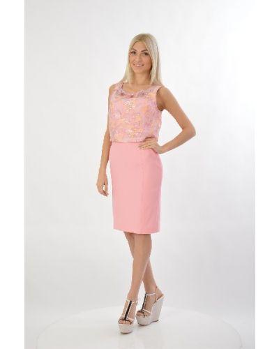 Летнее платье розовое шелковое Maria Grazia Severi