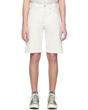 Серебряные джинсовые шорты с карманами из овчины с заплатками Band Of Outsiders