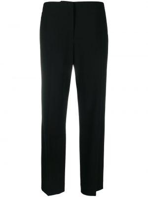 Черные прямые брюки с карманами с высокой посадкой Ralph Lauren