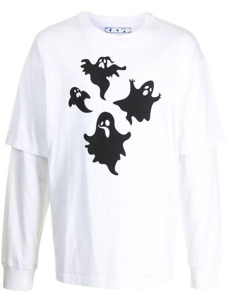 Bawełna z rękawami czarny bluza Off-white