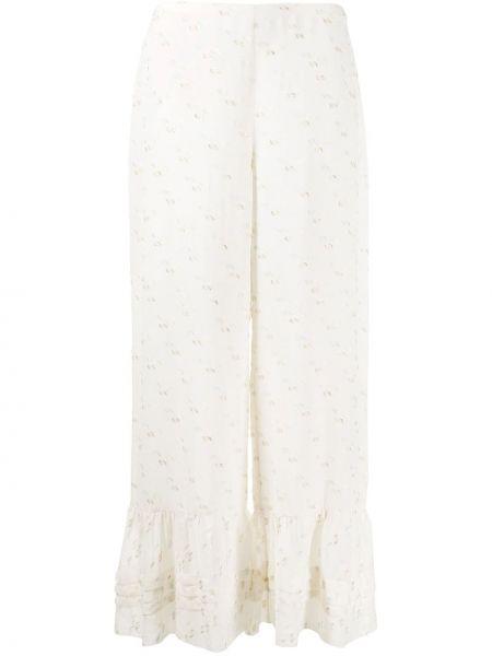 Свободные брюки с вышивкой со складками свободного кроя See By Chloé