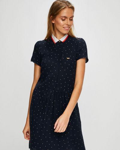 Платье мини из вискозы на пуговицах U.s. Polo