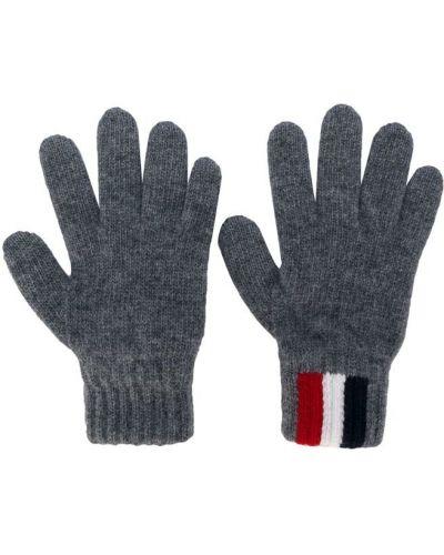 Перчатки шерстяные серые Moncler Kids