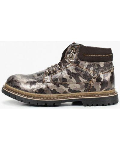 Кожаные ботинки осенние высокие Shoiberg