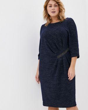 Повседневное платье осеннее синее Averi