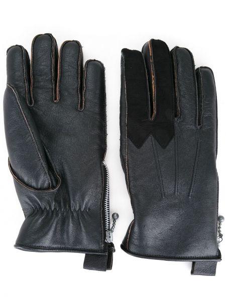 Черные кожаные перчатки из овчины Addict Clothes Japan