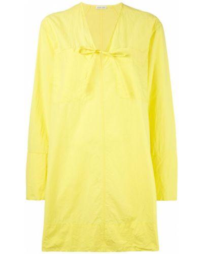 Желтое платье на молнии Tomas Maier