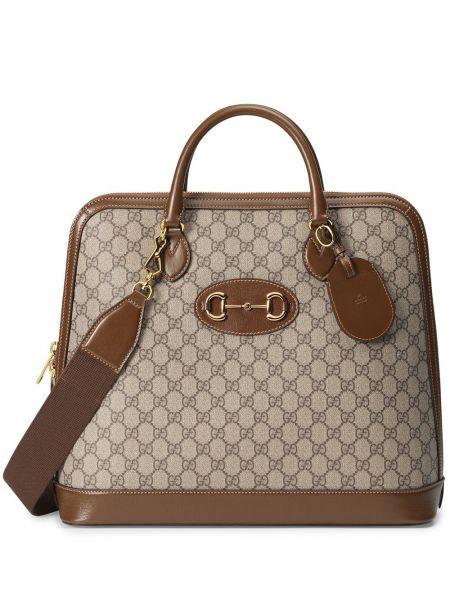 Кожаная сумка - коричневая Gucci