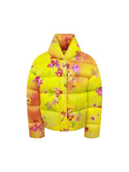 Пуховая желтая стеганая куртка с подкладкой с перьями Ralph Lauren