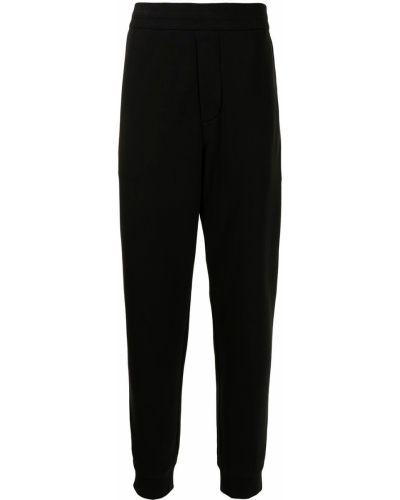 Czarne spodnie z wysokim stanem bawełniane Kent & Curwen