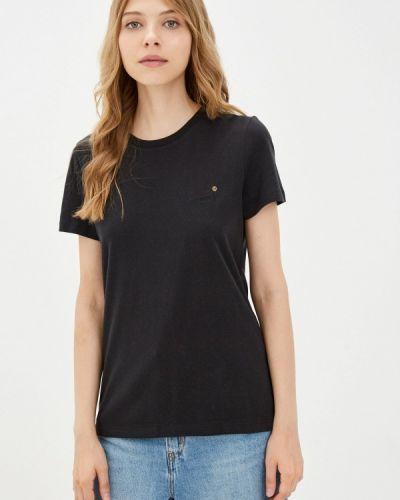Черная футболка осенняя Superdry