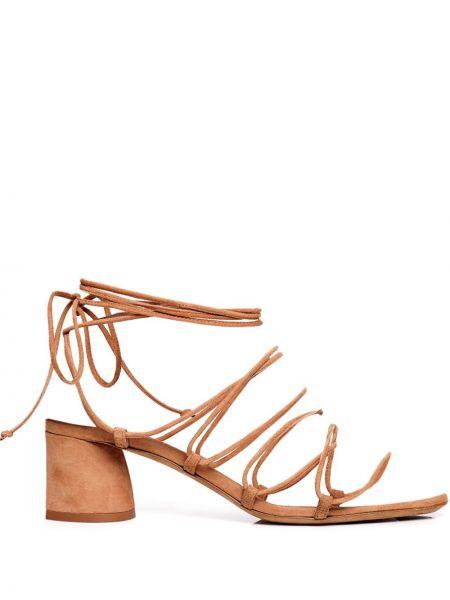 Brązowe sandały skorzane Tabitha Simmons