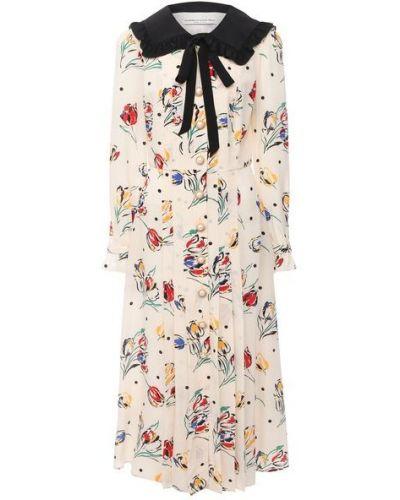 Шелковое платье с подкладкой Alessandra Rich
