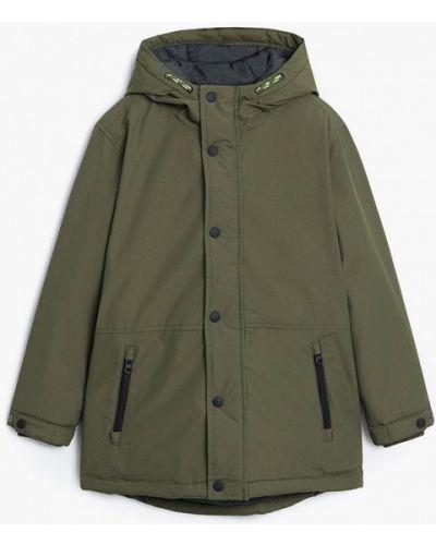 Зеленая теплая куртка Mango Kids