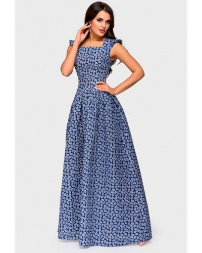 Платье осеннее синее 1001dress