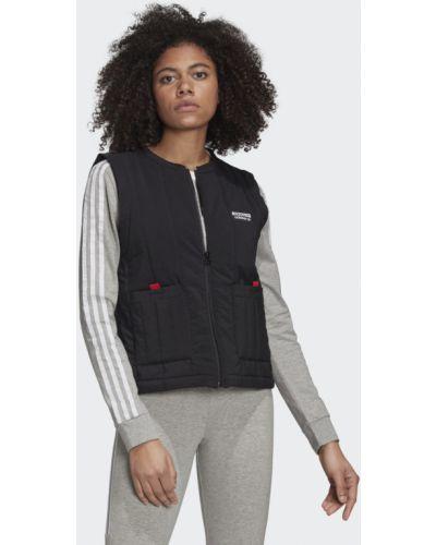 Городская черная жилетка с подкладкой Adidas