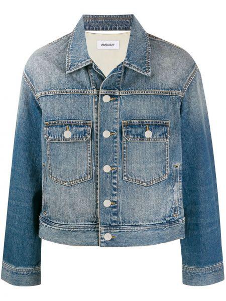 Niebieskie jeansy bawełniane z długimi rękawami Ambush