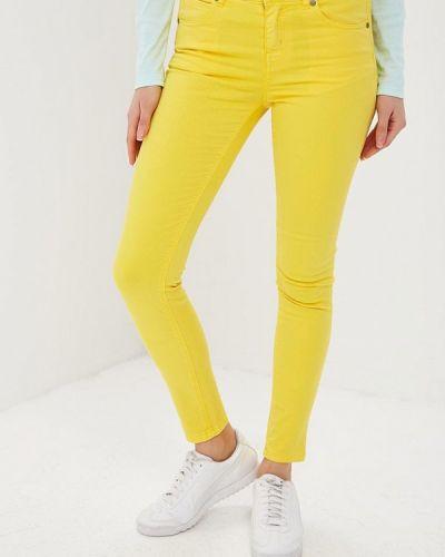 Брюки весенний желтый United Colors Of Benetton