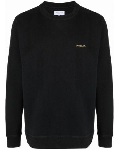 Czarna bluza długa z długimi rękawami bawełniana Maison Labiche