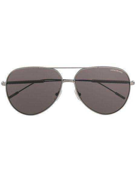 Солнцезащитные очки авиаторы черные Montblanc