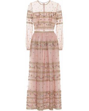 Платье розовое из фатина Costarellos