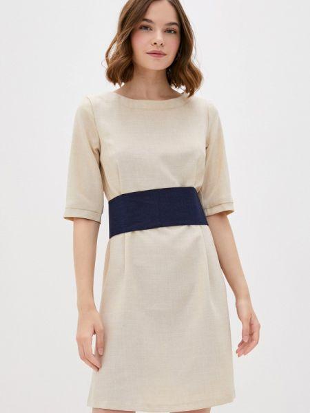 Бежевое платье Maurini