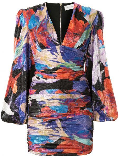 Платье мини с V-образным вырезом на молнии Rebecca Vallance