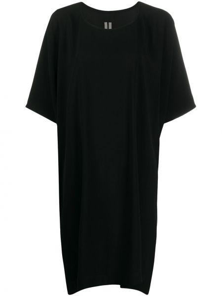 Czarny sukienka okrągły z wiskozy okrągły dekolt Rick Owens