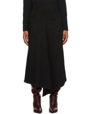 Джинсовая юбка асимметричная пачка Tibi