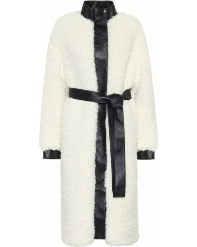 Белое кожаное пальто Acne Studios