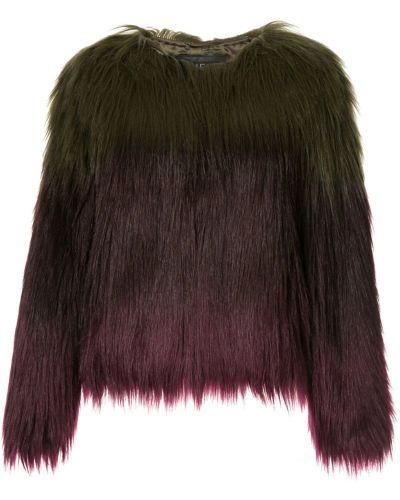 Зеленая шуба из искусственного меха Unreal Fur