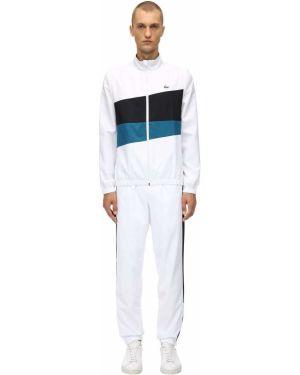 Biały dres z nylonu Lacoste