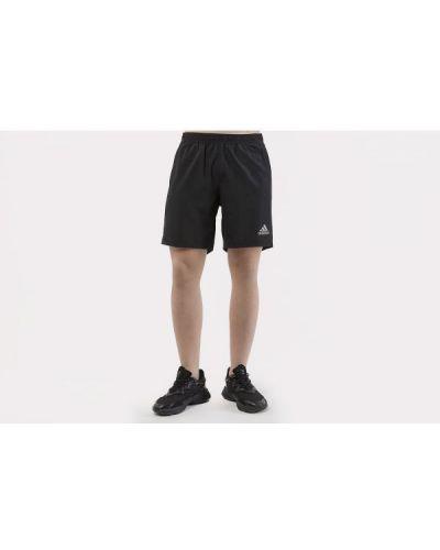 Czarne szorty do biegania Adidas