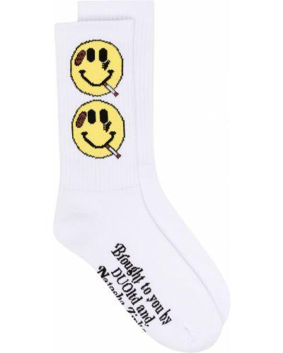 Хлопковые белые носки в рубчик Natasha Zinko