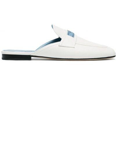 Белые лоферы Prada