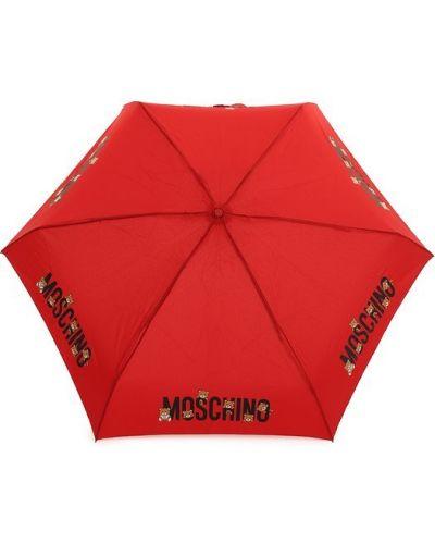 Красный автоматический зонт Moschino