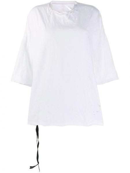 Белая хлопковая футболка Unravel Project