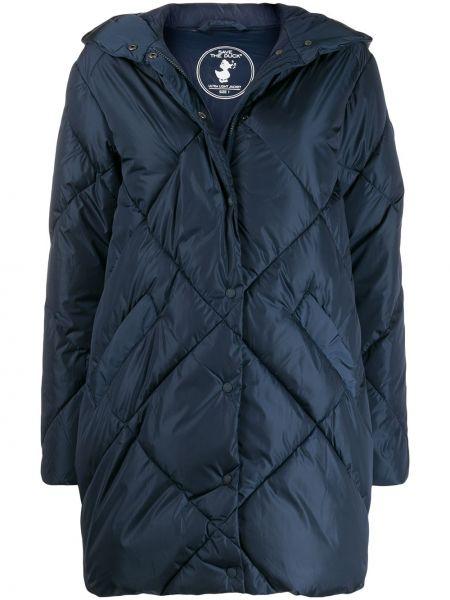 Синее длинное пальто Save The Duck