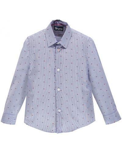 Рубашка с узором темно-синий Brums