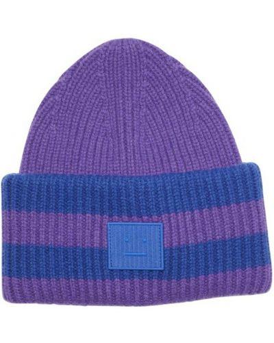 Fioletowa czapka beanie Acne Studios