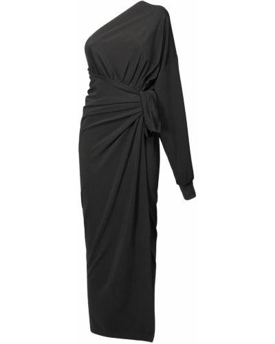 Платье с запахом - черное Balenciaga