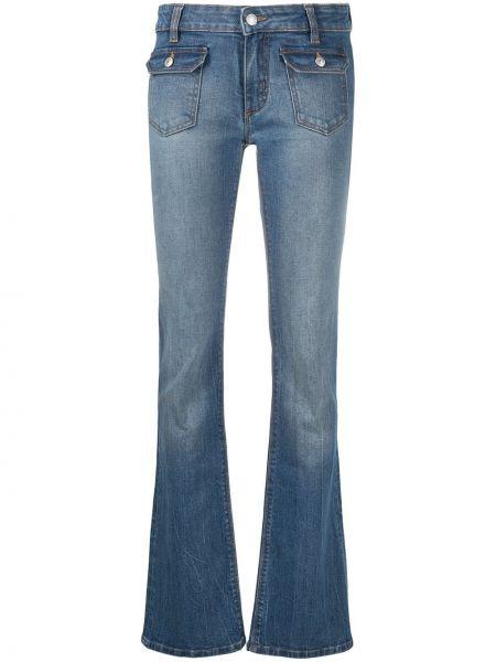 Хлопковые синие джинсы на молнии Zadig&voltaire