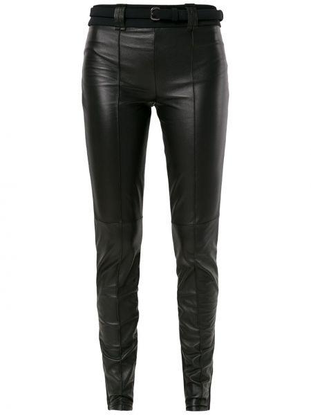 Черные брюки дудочки с поясом Gloria Coelho