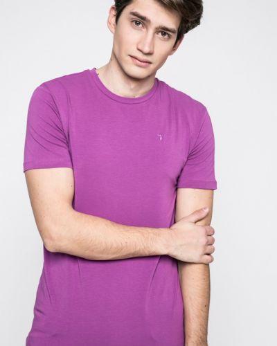 Фиолетовая футболка Trussardi Jeans