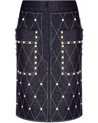 Юбка мини джинсовая с завышенной талией Alena Akhmadullina