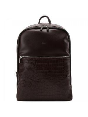 Коричневый текстильный рюкзак Fabi