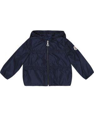 Синяя куртка с капюшоном Moncler Enfant