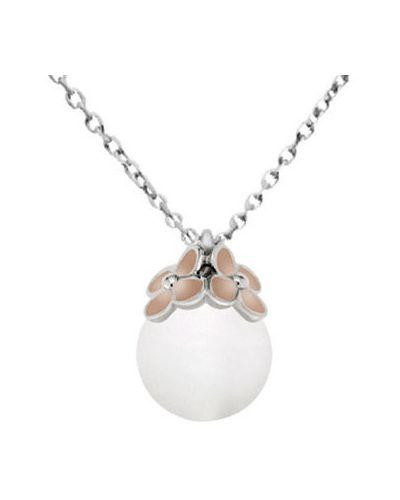 Подвеска на цепочке с камнями серебряный Nina Ricci